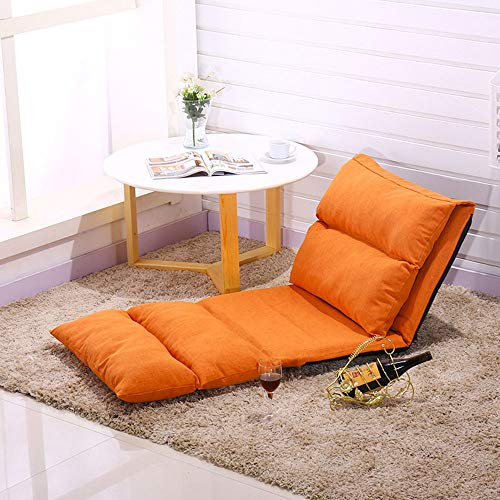 Jtoony Sessel Outdoor Indoor Olding Boden Lounge Sofa Stuhl E Schlafsofa Couch Liege Für Schlafsaal 5 Farben Sofa Stuhl (Color : Orange, Size : Free Size)