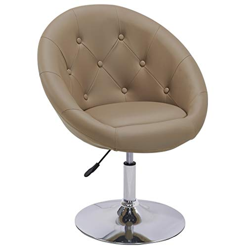 Duhome Sessel Cappuccino höhenverstellbar Kunstleder Clubsessel Coctailsessel Loungesessel   Typ 509A