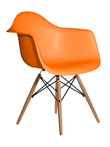 Aryana Home Eames Replik Sessel, 59 x 62 x 82,50 cm 59x62x82.5 cm orange