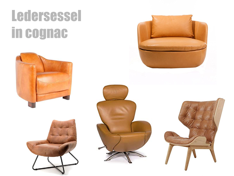 Ledersessel in cognac