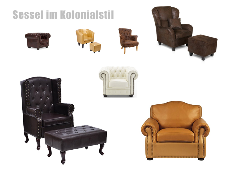 Kolonialstil Sessel